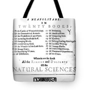 Della Portas Natural Magick, 1658 Tote Bag