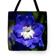 Delphinium Face Tote Bag