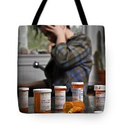 Depression And Addiction Tote Bag