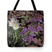 Desert Chicory And Heliotrope Tote Bag