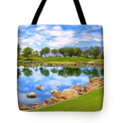 Desert Golf Tote Bag