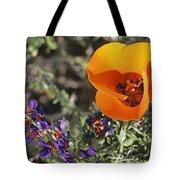 Desert Mariposa Tulip & Coulters Tote Bag