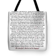 Desiderata Mydesi With Wine Tote Bag