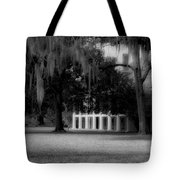 Destrehan Plantation In Black And White Tote Bag
