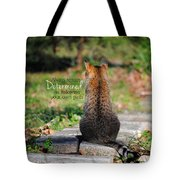 Determined Encouraging Cat Photo Tote Bag