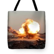 Detonation Of A Weapons Cache Tote Bag