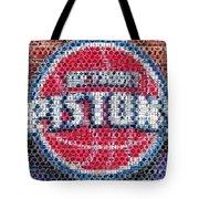 Detroit Pistons Mosaic Tote Bag