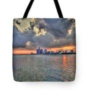Detroit Sunset  Tote Bag