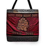 Devil Dogs Tote Bag