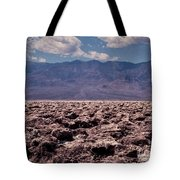 Devil's Golf Course At Death Valley Tote Bag