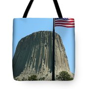 Devil's Tower Old Glory Tote Bag