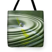Dew Bead On The Blade Of Grass Tote Bag