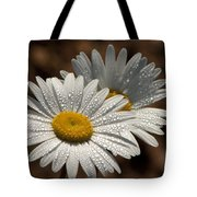 Dew Tell Oxeye Daisy Wildflowers Tote Bag