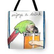 Dexter Enjoys A Drink Tote Bag