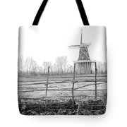 Dezwaan Windmill In Holland Michigan During November Tote Bag