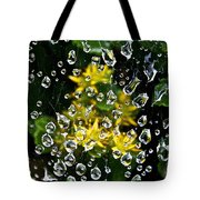 Diamond Studded Web Tote Bag