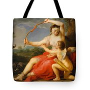 Diana And Cupid Tote Bag