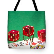 Dice Red Cards Hook 1 B Tote Bag