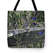 Digital Daisies Tote Bag