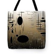 Digital Dimensions In Brown Series Image 2 Tote Bag