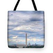Digital Liquid - Clouds Over Washington Dc Tote Bag