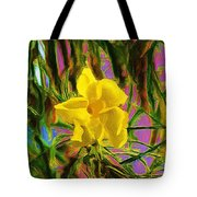 Digital Painting Of Yellow Orchid Tote Bag