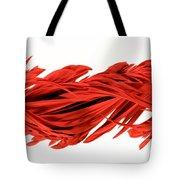 Digital Streak Image Of A Poinsettia Tote Bag