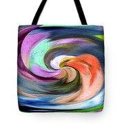 Digital Swirl Of Color 2001 Tote Bag