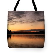 Diminishing Clouds And Rising Sun Tote Bag