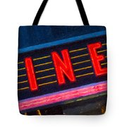 Diner Sign In Neon Tote Bag