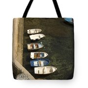 Dinghy's In Dubrovnik Tote Bag