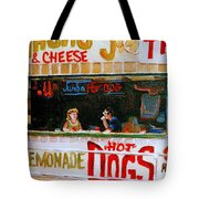 Dinner For Two Atlantic City On The Boardwalk   Tote Bag