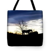 Dinner On The Hill Tote Bag