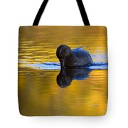 Dipping In Gold Tote Bag