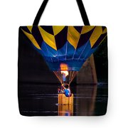 Dipping The Balloon Basket Tote Bag