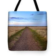 Dirt Road Through The Prairie Tote Bag