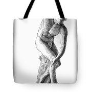 Discobolus Casting Tote Bag