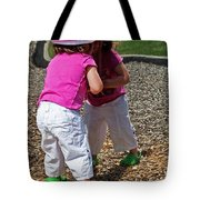 Discovering A Friend Tote Bag
