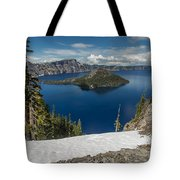 Discovery Point And Wizard Island Tote Bag