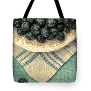 Dish Of Fresh Blueberries Tote Bag