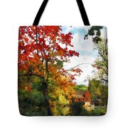 Distant Mill  In Autumn Tote Bag