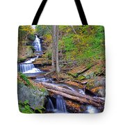 Distant Ozone Falls And Rapids In Autumn Tote Bag