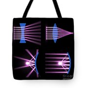 Diverging Converging Lenses And Mirrors Tote Bag