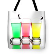 Diving In Colorful Water Tote Bag by Paul Ge
