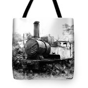 Do-00508 Mar Mikhael Train Bw Tote Bag