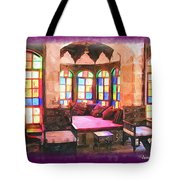 Do-00520 Emir Bachir Palace Interior-violet Bkgd Tote Bag