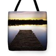 Dock At Sunset Tote Bag