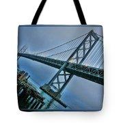 Dock By The San Francisco Bay Bridge Tote Bag