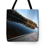 Dock On Northern Manitoba Lake Tote Bag