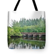 Dock On The North Fork River Tote Bag